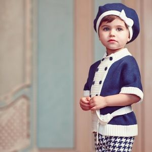 Janie and Jack Nautical Belted Cardigan 3-6 months
